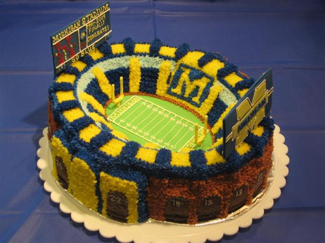 College Football Cake Decorations